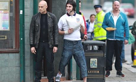 Sacha Baron Cohen film set Grimsby