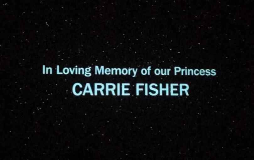 The Last Jedi Credit