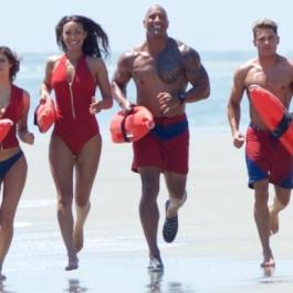 "Atlanta Filming photo Members of the cast of ""Baywatch"" jog on the beach on Tybee Island."