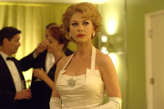 """FEUD: Bette and Joan -- """"And the Winner is...(The Oscars of 1963)"""" -- Installment 1, Episode 5 (Airs Sunday, April 2, 10:00 p.m. e/p) -- Pictured: Catherine Zeta-Jones as Olivia de Havilland. CR: Suzanne Tenner/FX."""
