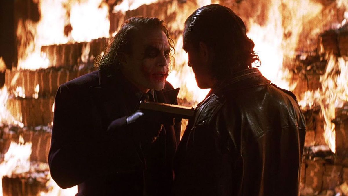 Some men Just want to watch the world burn burning joker