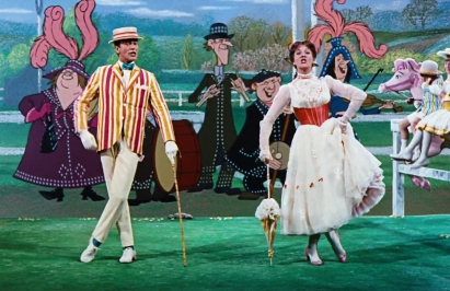 Supercalifragilisticexpialidocious Marry Poppins Dick van Dyke Julie Andrews Credit: Disney