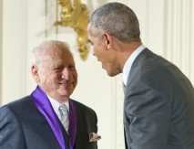 Mandatory Credit: Photo by REX/Shutterstock (5925766r) Barack Obama and Mel Brooks National Medal of Arts and National Humanities Medal Cermony, Washington DC, USA - 22 Sep 2016