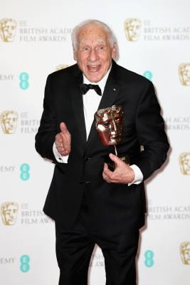 LONDON, ENGLAND - FEBRUARY 12: Mel Brooks with his Fellowship Award during the 70th EE British Academy Film Awards (BAFTA) at Royal Albert Hall on February 12, 2017 in London, England. (Photo by Chris Jackson/Getty Images)