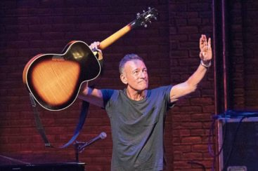 """NEW YORK, NY - DECEMBER 15: Bruce Springsteen takes his final """"Springsteen on Broadway"""" curtain call at Walter Kerr Theatre on December 15, 2018 in New York City. (Photo by Taylor Hill/Getty Images)"""