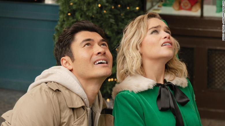 "(from left) Tom (Henry Golding) and Kate (Emilia Clarke) in ""Last Christmas,"" directed by Paul Feig."