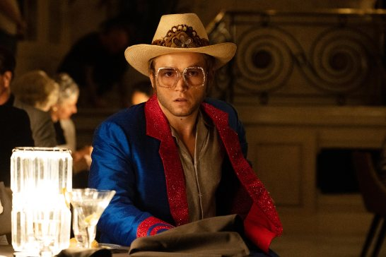 Taron Egerton as Elton John in Rocketman from Paramount Pictures.